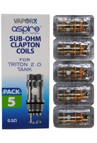 Aspire Triton Clapton Replacement Coils 0.5ohm - 5pck
