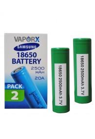 Samsung 25R 18650 Battery - 2pck