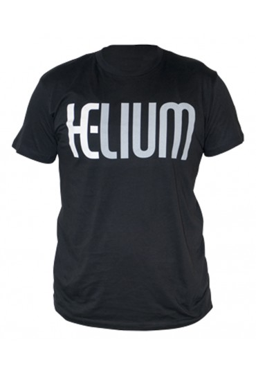 Short Sleeve Black Helium logo T-Shirt